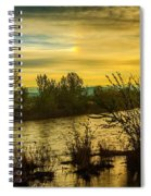 Sunrise On The Payette River Spiral Notebook