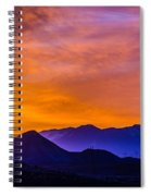 Sunrise Over Colorado Rocky Mountains Spiral Notebook