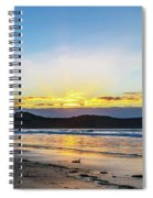 Sunrise Seascape And Crepuscular Rays Spiral Notebook