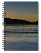 Sunrise Waterscape And Silhouettes Spiral Notebook