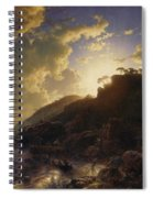 Sunset After A Storm On The Coast Of Sicily Spiral Notebook