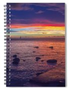 Sunset At Mauritius Spiral Notebook