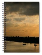 Sunset At Pass A Grille Florida Spiral Notebook