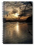 Sunset At The Lake Spiral Notebook