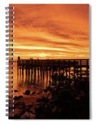 Sunset At The Pier Spiral Notebook