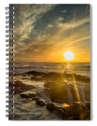 Sunset At Thor's Well Spiral Notebook