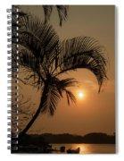 sunset Huong river Spiral Notebook