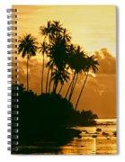Sunset In Atiha, Moorea, French Polynesia Spiral Notebook