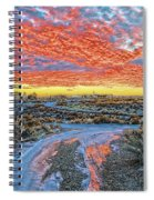 Sunset In El Prado Spiral Notebook
