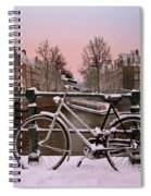 Sunset In Snowy Amsterdam In The Netherlands In Winter Spiral Notebook