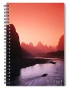 Sunset Over Li River Spiral Notebook