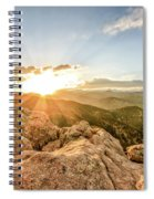 Sunset Over The Mountains Of Flaggstaff Road In Boulder, Colorad Spiral Notebook
