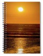Sunset Over The Ocean Spiral Notebook