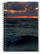 Sunset Wave Spiral Notebook