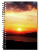 Sunsetting Over Portree, Isle Of Skye, Scotland No.2. Spiral Notebook