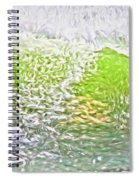 Surfer Green Spiral Notebook