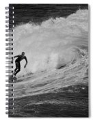 Surfing Off The Coast Of Montecito California Spiral Notebook