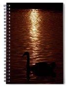 Swan Silhouette Spiral Notebook
