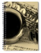 Sweet Sounds Of The Sax Spiral Notebook