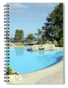 Swimming Pool Summer Vacation Scene Spiral Notebook