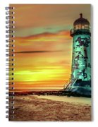 Talacre Lighthouse - Wales Spiral Notebook