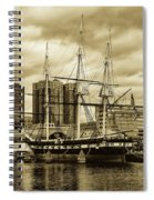 Tall Ship In Baltimore Harbor Spiral Notebook