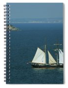Tall Ship Passing Thatcher's Rock, Torbay Spiral Notebook