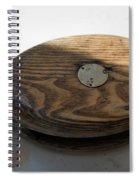 Tall Ship Wooden Line Block Spiral Notebook