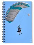 Tandem Paragliding Spiral Notebook