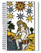 Tarot Card The Stars Spiral Notebook