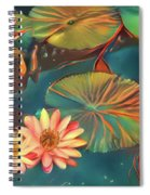 Teal Waterlilies 8 Spiral Notebook