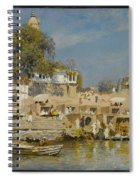 Temples And Bathing Ghat Spiral Notebook