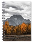 Teton Fall - Modern View Of Mt Moran In Grand Tetons Spiral Notebook
