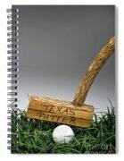Texas Golf Putter. Spiral Notebook