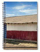 Texas State Flag On A Texan Ranch Barn Spiral Notebook