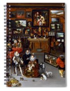 The Archdukes Albert And Isabella Visiting A Collector's Cabinet Spiral Notebook