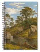 The Bath Of Diana. Van Diemen's Land Spiral Notebook
