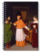 The Betrothal Of Raphael And The Niece Of Cardinal Bibbiena Spiral Notebook