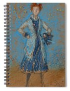 The Blue Girl Spiral Notebook