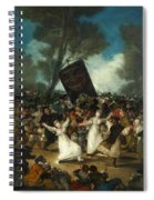 The Burial Of The Sardine Spiral Notebook
