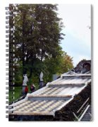 The Chessboard Hill Cascade Fountain On The Grounds Of The Peterhof Palace Spiral Notebook