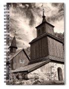 The Church Of Fagervik Spiral Notebook