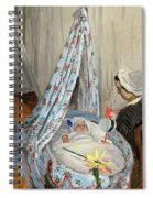 The Cradle - Camille With The Artist's Son Jean Spiral Notebook