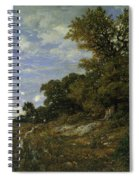 The Edge Of The Woods At Monts-girard, Fontainebleau Forest Spiral Notebook