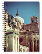 The Equestrian Statue Of Bartolomeo Colleoni In Venice Spiral Notebook