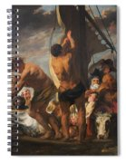 The Ferry Boat To Antwerp Spiral Notebook