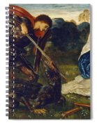The Fight St George Kills The Dragon  Spiral Notebook