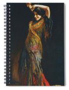 The Flamenco Dancer Spiral Notebook