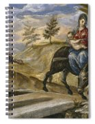 The Flight Into Egypt Spiral Notebook