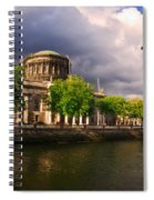 The Four Courts In Reconstruction 2 Spiral Notebook